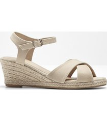 sandali con zeppa (beige) - bpc bonprix collection