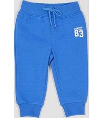 pantalón de buzo básico azul bebo corona