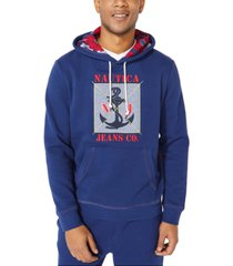 nautica jeans co. men's graphic print hoodie