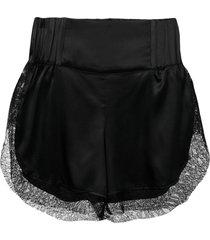 almaz lace shorts - black