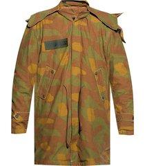 jacket with camo motif
