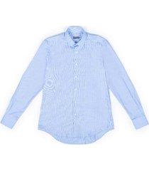 het eenvoudige overhemd slim fit katoenen met kleine kraag