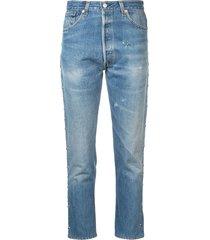 slim fit studded jeans