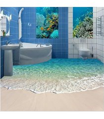 self-adhesive hd ocean sandy beach reef floor wallpaper pvc seascape mural floor
