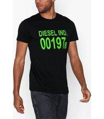 diesel t-diego-001978 t-shirt t-shirts & linnen svart