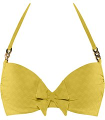 sunglow push up bikini top | wired padded royal yellow - 32f