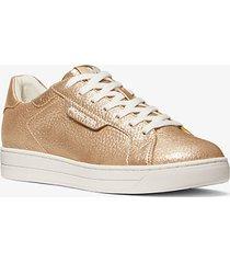 mk sneaker keating in pelle martellata metallizzata - oro pallido (oro) - michael kors