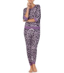women's room service jersey pajamas, size large - purple (nordstrom exclusive)