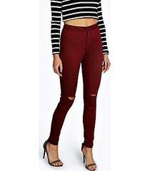 laura ripped knee high waist skinny jeans