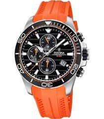 reloj festina modelo f20370/4 naranja hombre