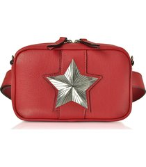 les jeunes etoiles designer handbags, leather vega belt bag w/chain strap