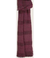 bufanda roja con rayas horizontales tono claro-m
