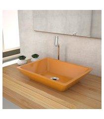 cuba de apoio p/banheiro compace messina rt45w retangular amarela