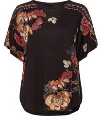ts gabi blouses short-sleeved svart desigual