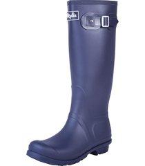 botas lluvia altas wellington bottplie - azul navy matte