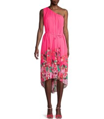ted baker london women's pinata one-shoulder dress - bright pink - size 1 (4)