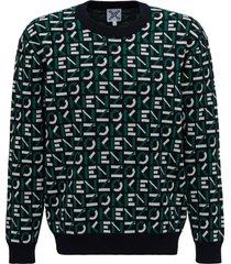 kenzo allover logo sweater