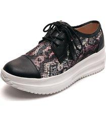zapato casual negro por folia piton lorena herrera