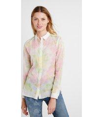 ethnic brushstrokes shirt - white - xl