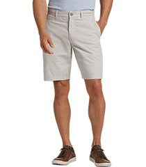 joseph abboud tan patterned modern fit shorts