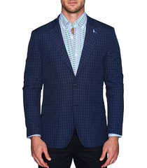 tailorbyrd men's standard-fit printed blazer - blue - size 40 r