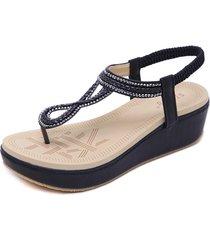zapatos sandalias de tacón de cuña de bohemia.