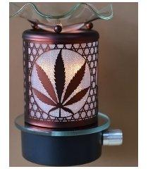 copper marijuana leaf wall plugin oil/tart warmer use with scentsy/yankee candle
