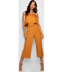 bandeau top & culottes co-ord set, mustard