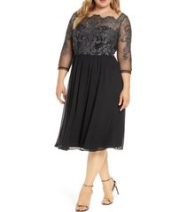 plus size women's chi chi london curve mya glitter embroidered lace cocktail dress
