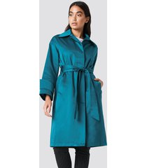 na-kd shiny coat - green,blue
