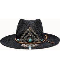 sparti cappello western geometria messicana e pendenti