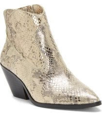 vince camuto women's jemeila snake-embossed booties women's shoes