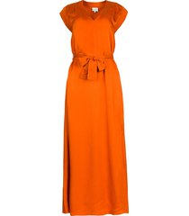 maxi-jurk met crãªpe effect jasiel  oranje