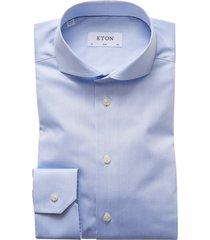 eton overhemd lichtblauw slim cut-away