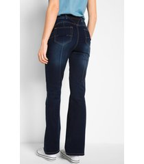 super stretch push up jeans met comfortband, bootcut