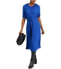 alfani tie-front midi dress, created for macy's
