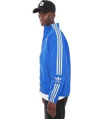 jaqueta corta vento adidas originals lock up tt azul-branca