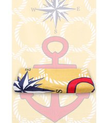 toalha de praia santista nautilus 70cmx1,50m dourado - tricae