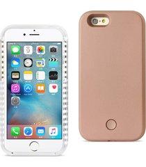 reiko iphone 6/ 6s led selfie light up illuminated case in rose gold