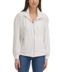 calvin klein tech zip-front stretch jacket