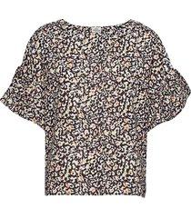 recina betsy blouses short-sleeved zwart mads nørgaard