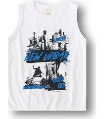 camiseta regata marisol play - 11207492i branco - branco - menino - dafiti