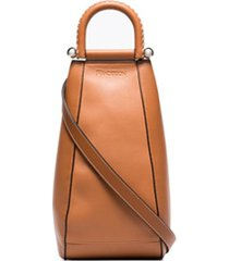 jw anderson bolsa tiracolo wedge pequena - marrom