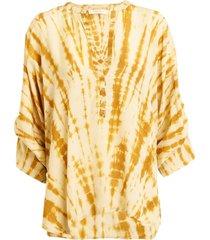 tie-dye blouse majbrit  geel