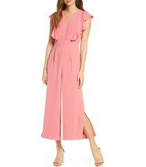 women's rachel parcell flutter sleeve jumpsuit, size - (nordstrom exclusive)