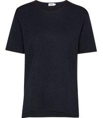 rose t-shirt t-shirts & tops knitted t-shirts/tops blauw filippa k