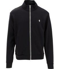 marcelo burlon designer sweatshirts, black men's sweatshirt w/zip closure
