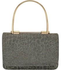 la regale metallic animal print sparkle jacquard mini handbag