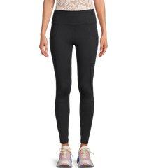 nine west women's seam-stitched leggings - black - size xl
