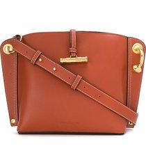 jw anderson structured shoulder bag - brown